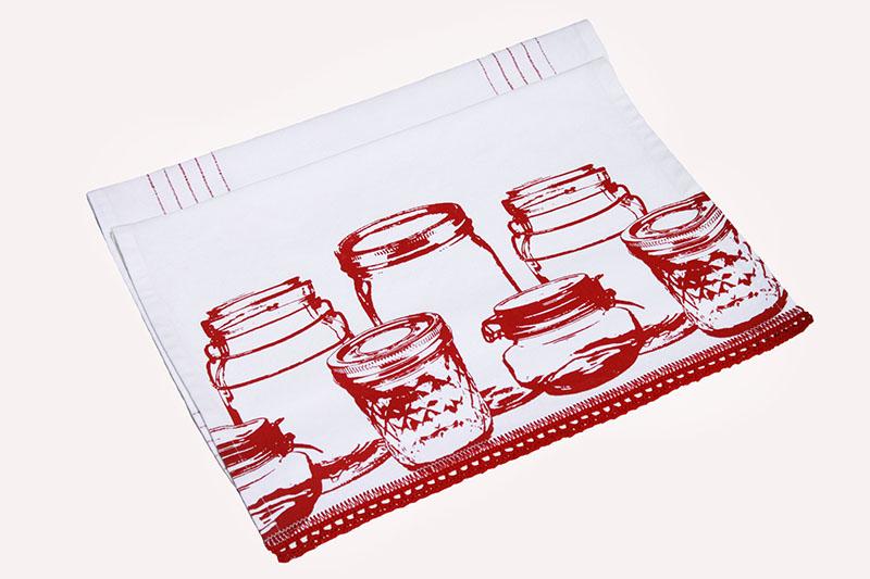 Hand Made Gifts Crochet Edge Tea Towel S Tea Towels Kitchen