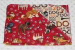 "Good Dog Red Hemstitched Flannel Pet Blanket Kit (Large 38 x 50"")"