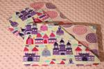 My Little Princess Hemstitched Flannel Blanket w/(2) Burp Cloths Kit-1518